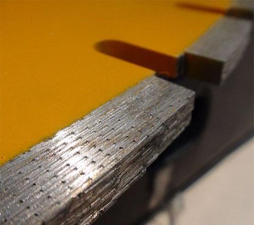 Алмазное напыление на диски для резки бетона