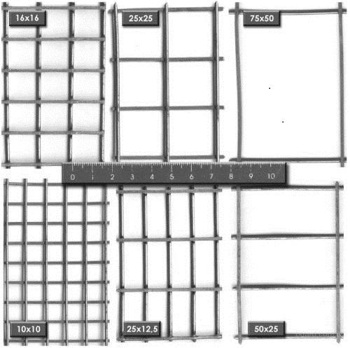 Типоразмеры металлических кладочных сеток