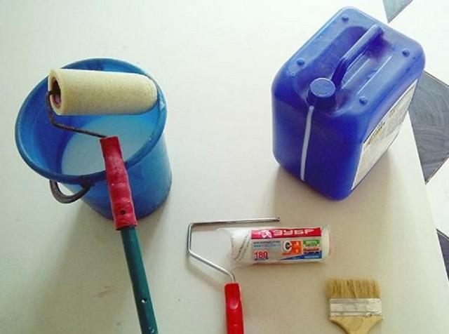 Набор инструментов для грунтования стен
