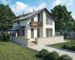 Дом из газобетона на мелкозаглубленном ленточном фундаменте