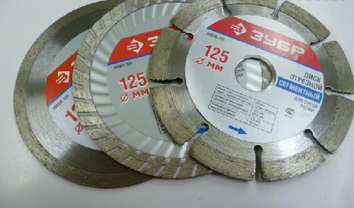 Разные виды алмазных дисков от компании Зубр