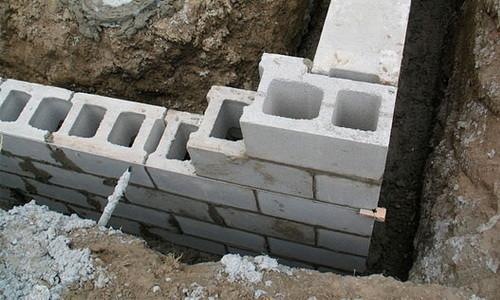 Фундамент из шлакоблоков своими руками
