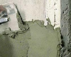 Нанесение штукатурки на бетонную поверхность
