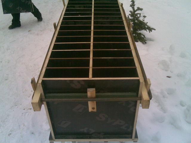 Форма для пенобетонных блоков из фанеры