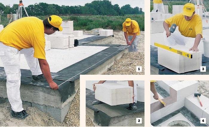 Кладка газосиликатных блоков