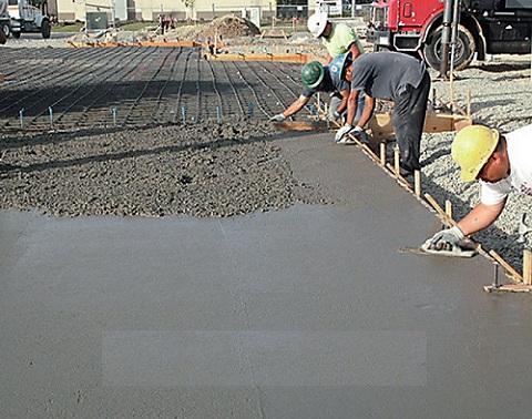 Заливка плитного фундамента бетоном класса В25