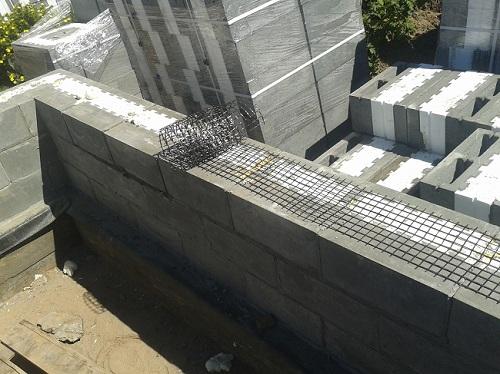 Кладка стен из теплоблоков
