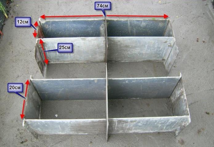 Пример самодельной формы для блоков