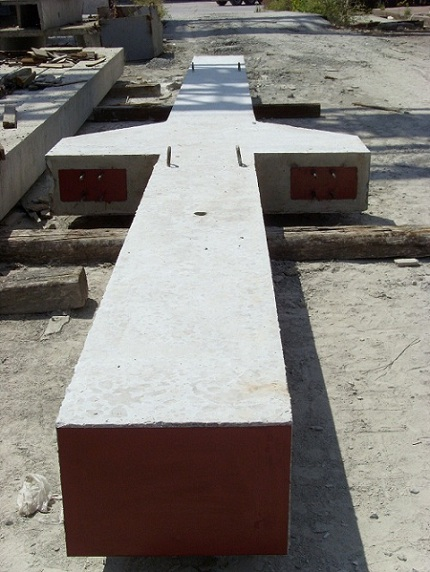 Опорная колонна прямоугольного сечения