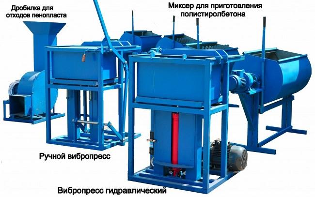 Оборудование для производства полистиролбетона и полистиролбетонных блоков