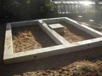 Незаглубленный ленточный фундамент под баню