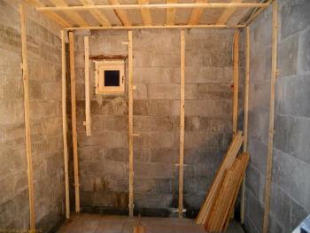 Внутренний деревянный каркас под утепление и гидроизоляцию