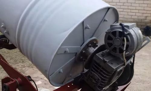 Самодельная бетономешалка из бочки с электрическим приводом