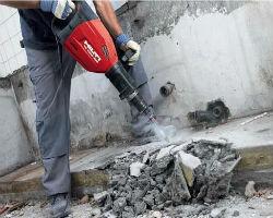 Демонтаж бетона перфоратором