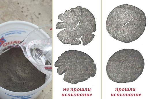 Примеры образцов застывшего бетона после испытаний на прочность