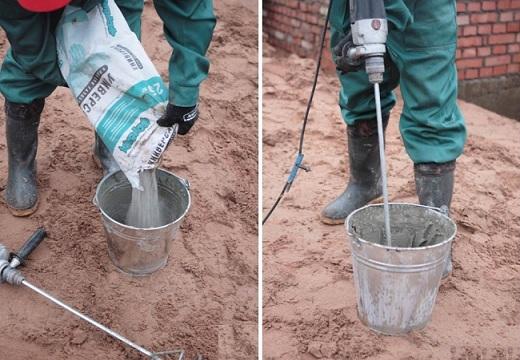Клеевой раствор для пенобетона замешивается как обыкновенный раствор с добавлением воды