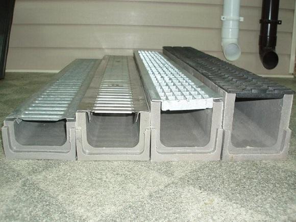 Лотки железобетонные с решетками для монтажа систем водоотвода