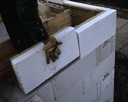 Стены из пеноблока