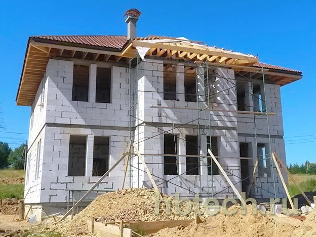 Строительство дома из гезобетона