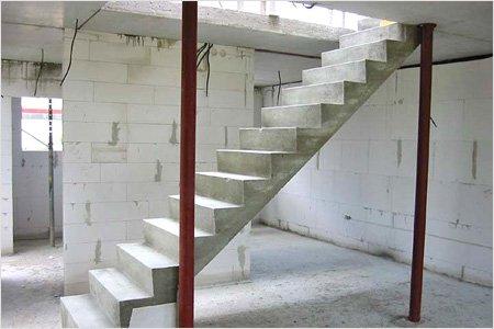 Бетонная лестница, в отличии от деревянной, намного практичнее и долговечнее