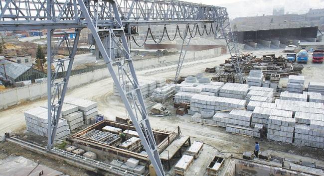 Склад готовой продукции завода ЖБИ-2