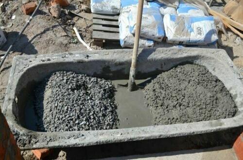 Для получения качественного бетона, при замесе следует соблюдать строгие пропорции составляющих материалов