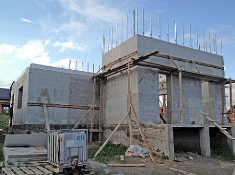 Процесс монолитного строительства частного дома