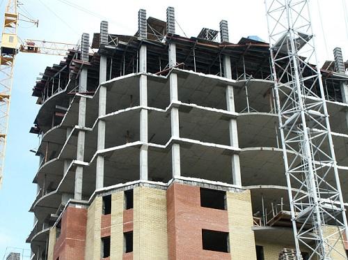 Монолитный железобетонный каркас многоэтажного здания