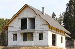 дом из газабетонных блоков